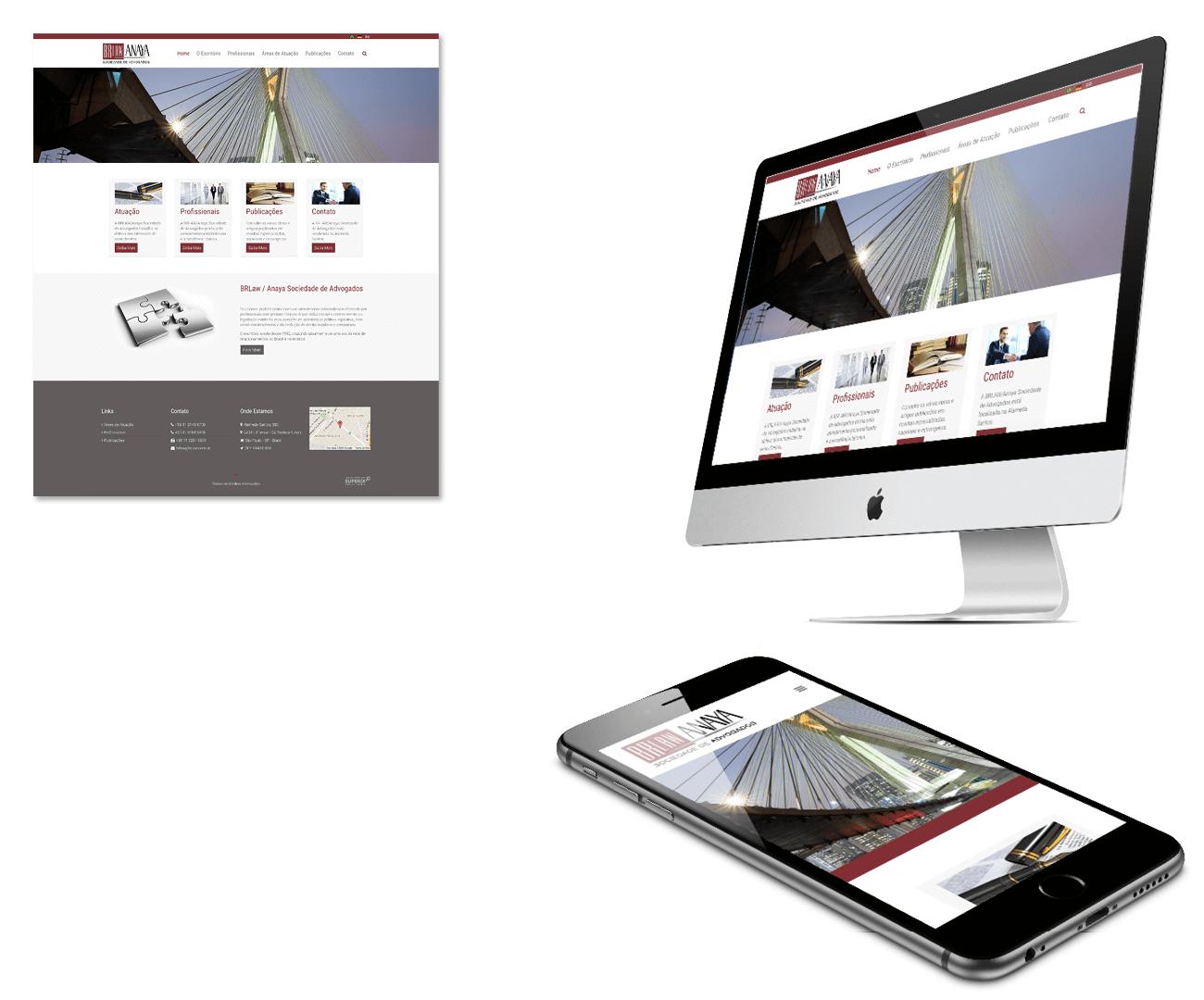 layout responsivo do site brlaw escritório de advocacia