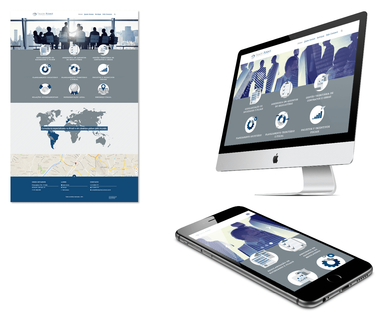 layout responsivo do site tradepoint consultoria empresarial