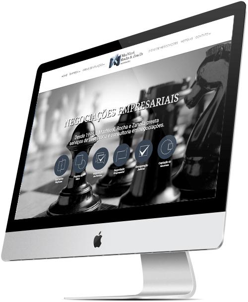 layout responsivo do site macnicol negociações empresariais