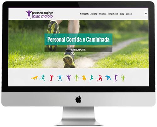 layout responsivo do site personal trainer talita maiolo