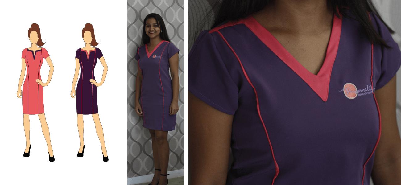 personnalite uniforme recepcionista