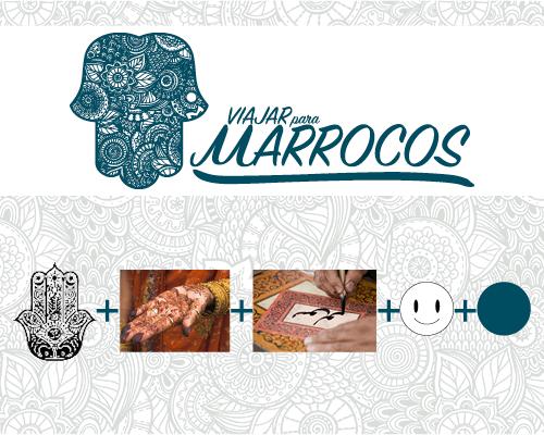 identidade visual viajar para marrocos empresa de turismo